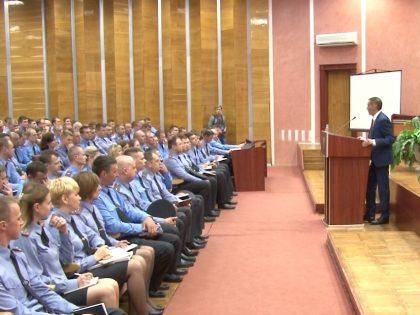 Встреча с милиционерами Полотчины